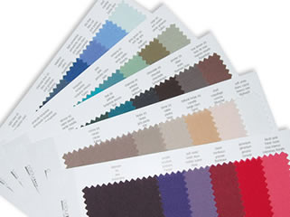 30 colour fabric swatch